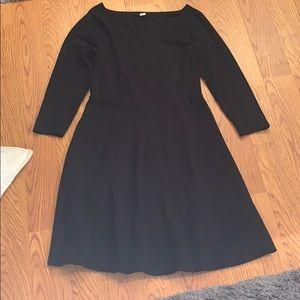 Knee length flow dress half sleeve